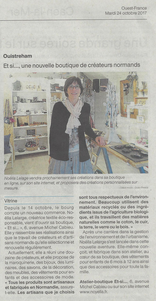 Atelier-Boutique et si article Ouest France