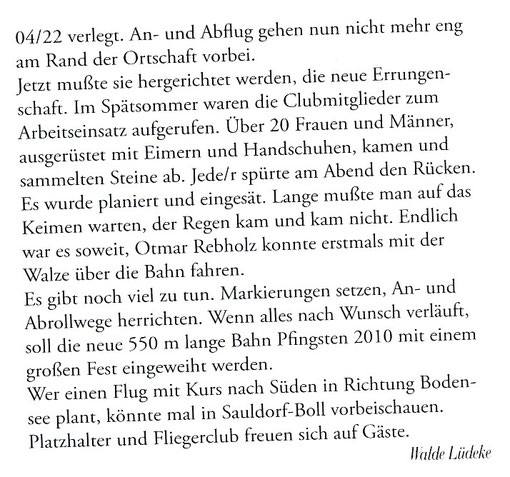 Artikel von Walde Lüdeke im DULV Info Dezember 2009