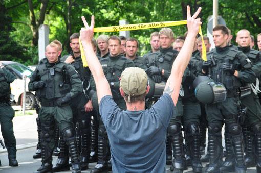 Frankfurt, Blockupy, 18.05.2012