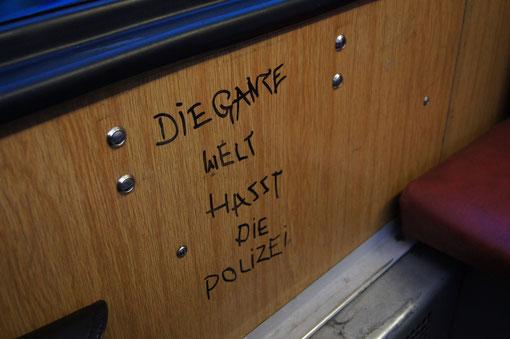 In einer Bahn in Frankfurt