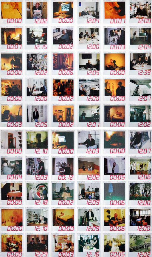 """60 Polaroids """"um Zwölf herum"""""""