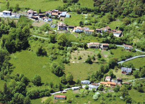 Una parte del pueblo a vista de pájaro