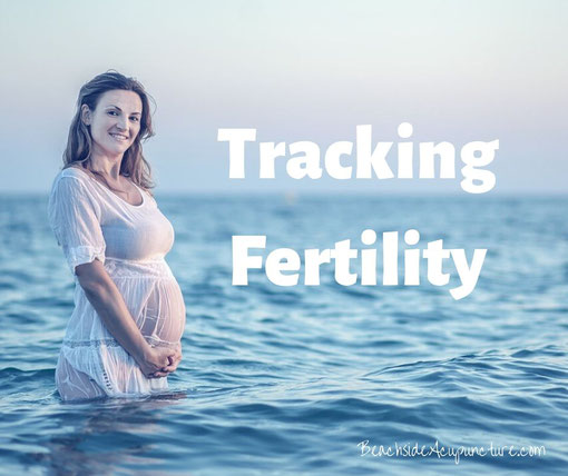 Tracking Fertility - Pregnant woman standing in the ocean