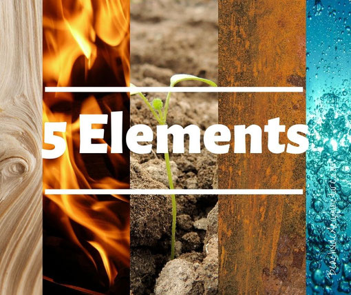 5 Elements: Wood, Fire, Earth, Metal, Water on the Beachside Blog
