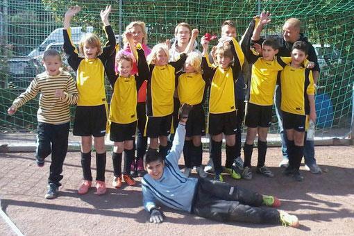 Der erste Saisonsieg gelang heute der E1 bei Eintracht Borbeck (Foto: p.a.).