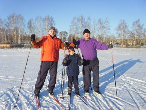 На секции лыжной подготовки
