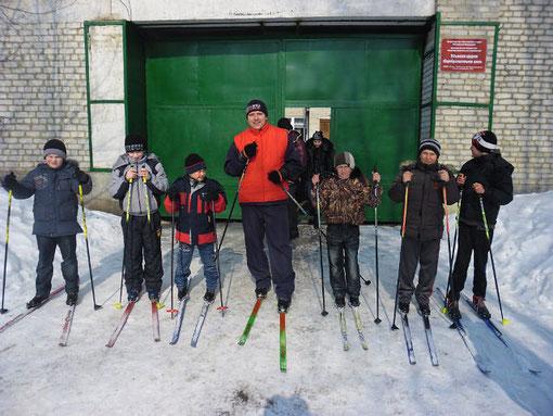 На секции лыжной подготовки март 2012