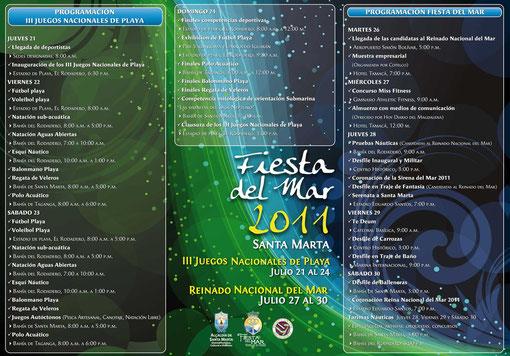 Programm der Fiesta del Mar in Santa Marta 2011