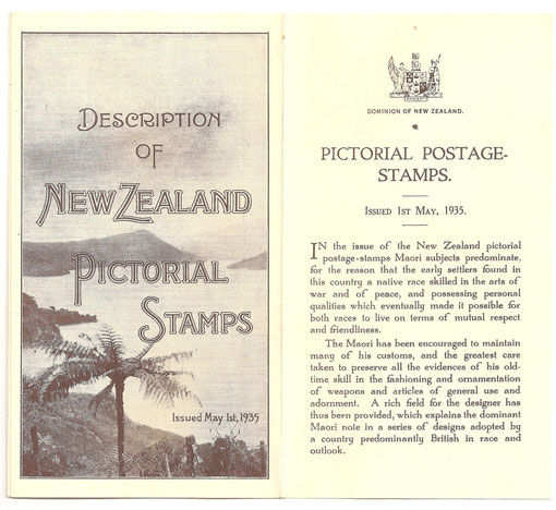 The descriptive brochure that was included in each First day cover.