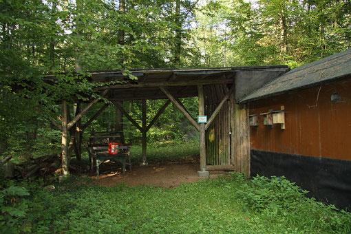 Hütte der NAJU-Gruppe
