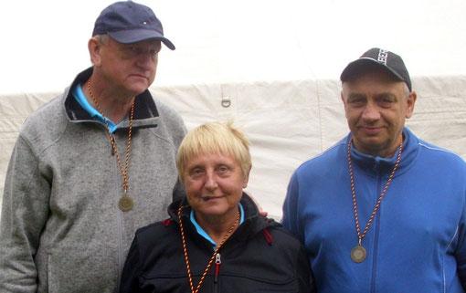 Die Inkognitos v.l. Fred, Steffi und Helmut