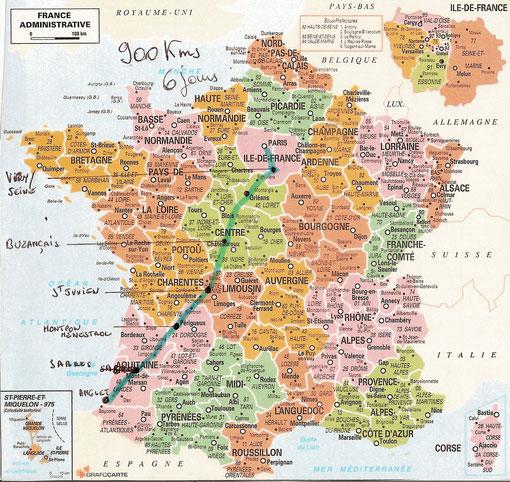 Anglet - Paris, c'est quand même près de 900 kms !!!