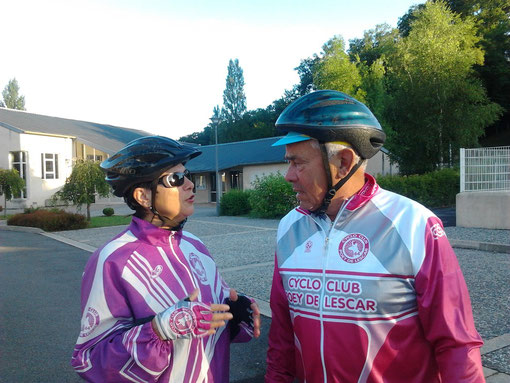 Claudette et Michou: 2 fidèles du CCPL parmi la trentaine de présents ce dimanche de Juillet.