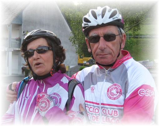 """Aline et Jacques, deux cyclos dynamiques et expérimentés, sont toujours là quand il s'agit de booster la """"bande à michou""""... BRAVO à eux!"""