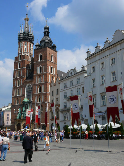 Blick auf die Marienkirche in Kraków (Krakau) (Foto Jörg Schwarz)