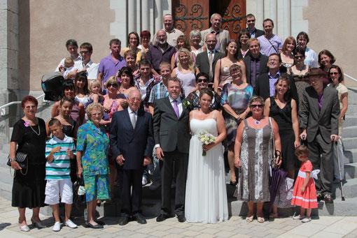 Famille et proches venus nous accompagner ce 9 juillet