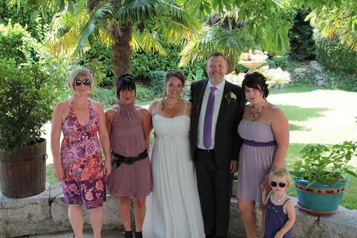 Lucile, Chrystelle, Lydia, Mélyne... une famille de filles !