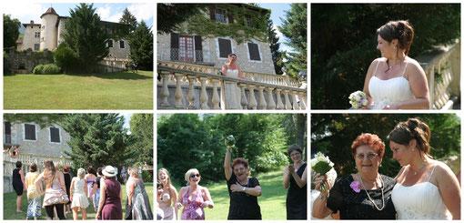 16h  Lancer de bouquet dans le parc du château... et la gagnante est : Ma grand tante Flora !!!