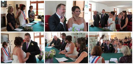 11h45  La cérémonie civile de mariage, dans la commune où se sont mariés mes parents et grands parents...