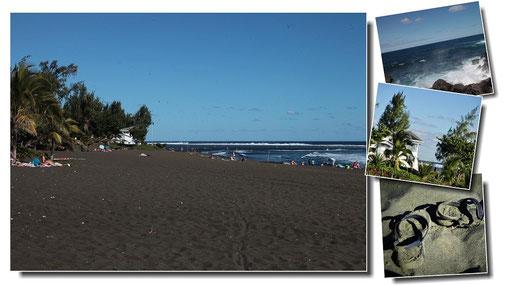 Au sud de l´île, les plages de sable noir... exotique à souhait