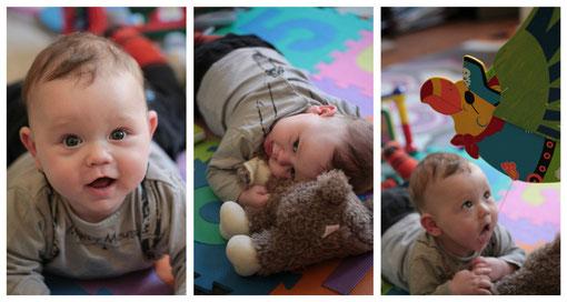 Le petit Argan de ma copine Emma  a 5 mois maintenant, il est toujours aussi charmant et part  désormais à la découverte du monde...tout sourire ! Comment ne pas craquer devant cette petite frimousse ?