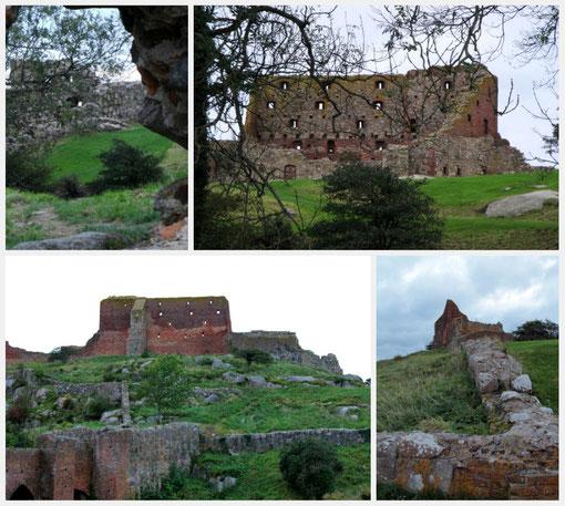 Les ruines de Hammerhus. tour à tour forteresse et lieu de résidence des seigneurs locaux, aujourd´hui  patrimoine historique danois
