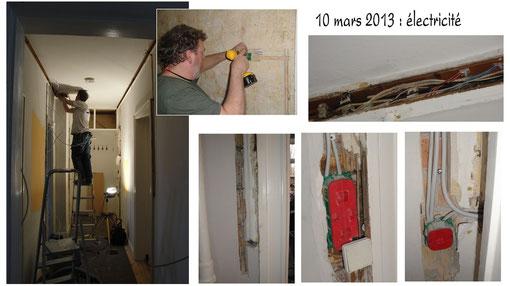 Mars 2013 : Torben décide de changer toute l´électricité ( qui, il est vrai, était assez vétuste). Et hop, on recommence !