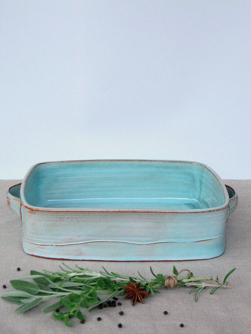 Turquoise cooking bowl
