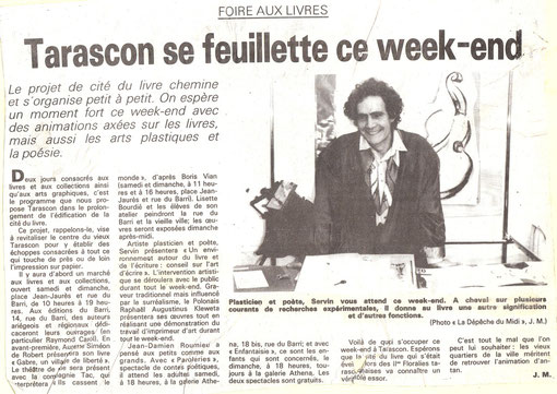 Taracon/ Ariège SERVIN devant ses oeuvres