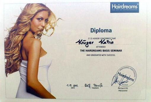 Klick auf mein Diplom von Hairdreams