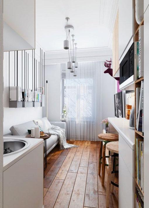 開放式廚房減省牆壁空間,視角上更開揚