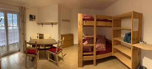 Hostel Zimmer Mehrbettzimmer Unterkunft Gruppen Rafting Canyoning Familienzimmer Selbstversorger