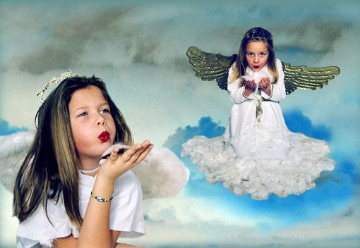 Hannah und Lea im Himmel