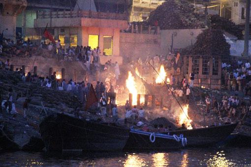 Verbrennungsstätte in Varanasi