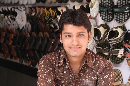Schuhverkäufer in Udaipur
