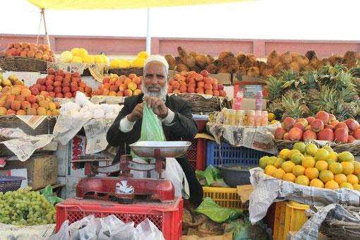 auf einem Obstmarkt