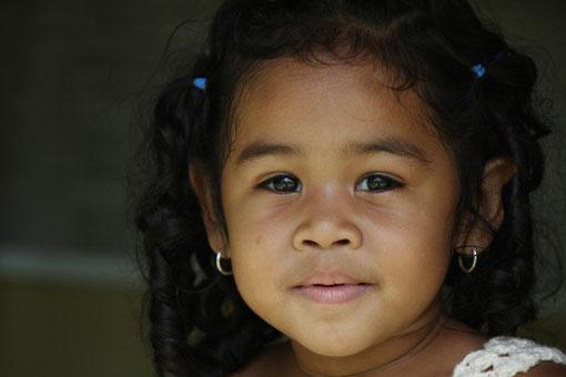 kleines Mädchen in Canaima