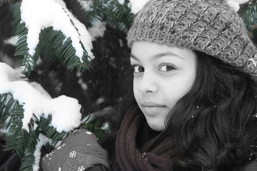 Laura im Winter