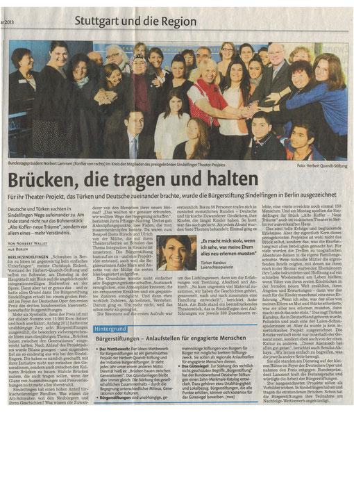 Stuttgarter Nachrichten, 22. Februar 2013