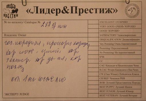 Лучший юниор , эксперт Коробкова( Россия)