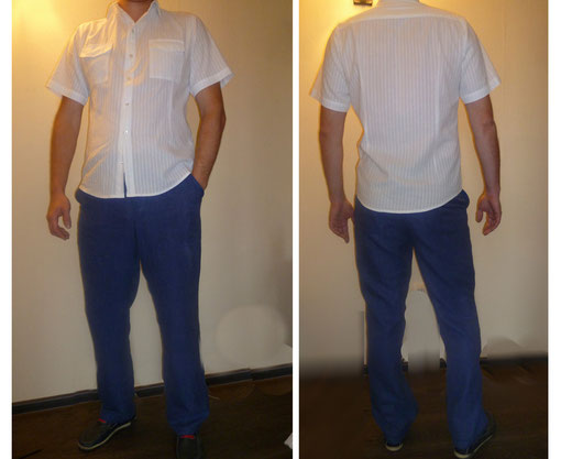 Мужская рубашка и брюки. Материал: Лен и Хлопок