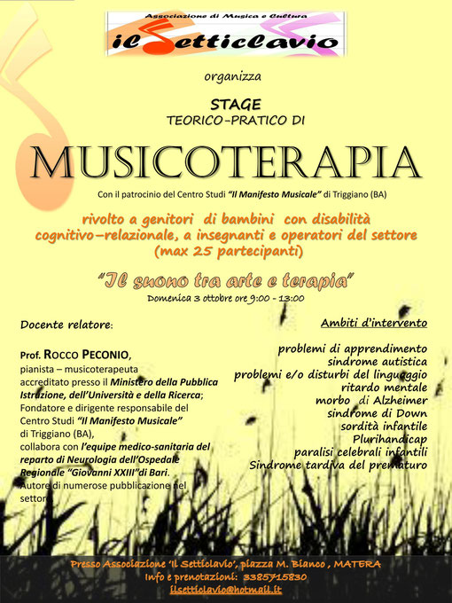 Stage MUSICOTERAPIA- 3 ottobre 2010