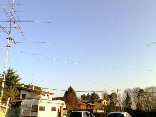 j-pole installata a circa 7 metri da terra