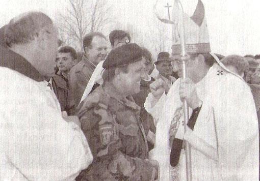 Susret kardinala Puljića i generala Matuzovića