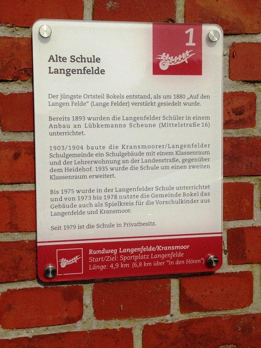 Hinweistafel Rundweg Langenfelde / Kranzmoor (c) ASB