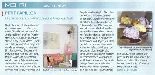 Bericht in der Augustausgabe 2010  des Düsseldorfer Magazins `Mehr!´