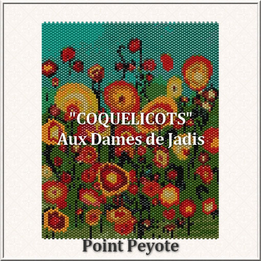 coquelicots-fleurs-picture-pattern-tapis-tapestry-miyuki-delica-seed beads-DIY-peyote-loom-even count-instant downlaod-auxdamesdejadis.com