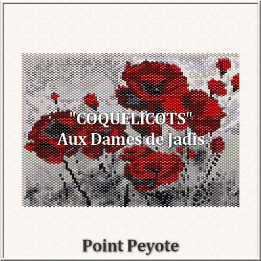 coquelicots sauvages-fleurs-picture-pattern-tapis-tapestry-miyuki-delica-seed beads-DIY-peyote-loom-even count-instant downlaod-auxdamesdejadis.com