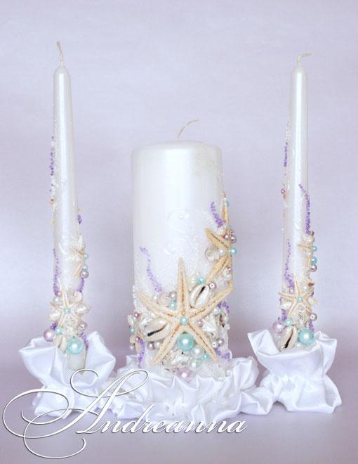 Свечи «Сокровища морей» стоимость 650грн, в любом цветовом решение.