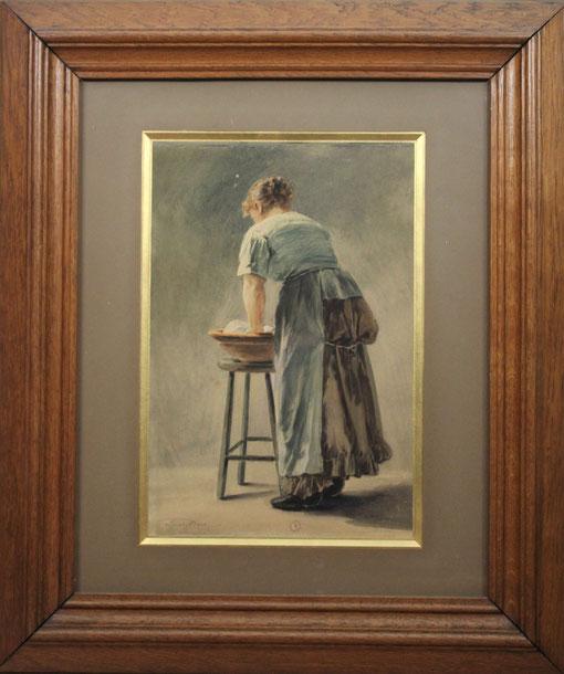 te_koop_aangeboden_een_aquarel_kunstwerk_van_de_vlaamse_kunstschilder_lionel_baes_1839-1913_belgische_romantiek
